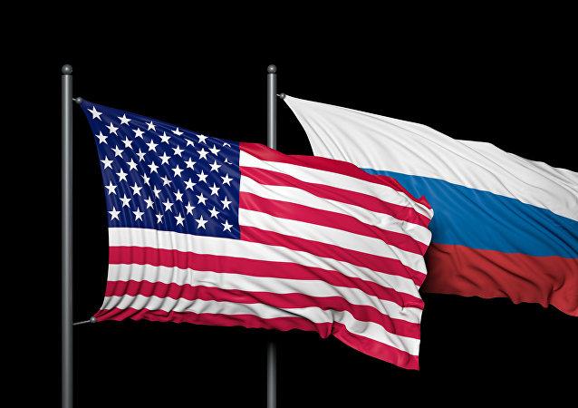 Americká a ruská vlajka