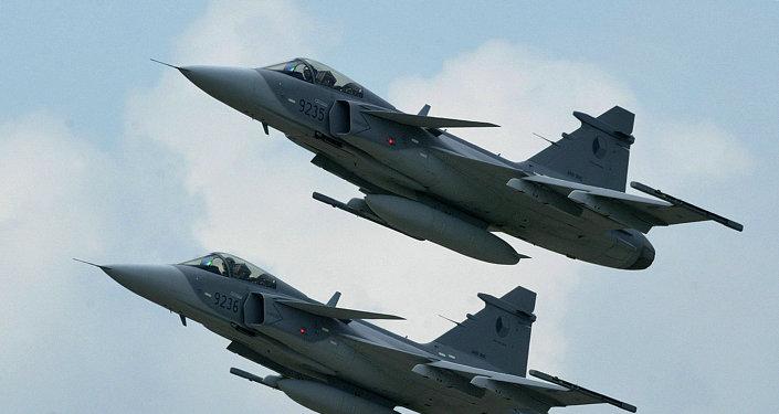 Letadla JAS-39 Gripen českého letectva. Ilustrační foto