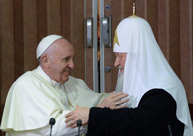 Papež František a patriarcha Kirill