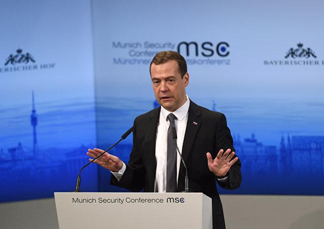 Ruský premiér Dmitrij Medveděv na Mnichovské bezpečnostní konferenci