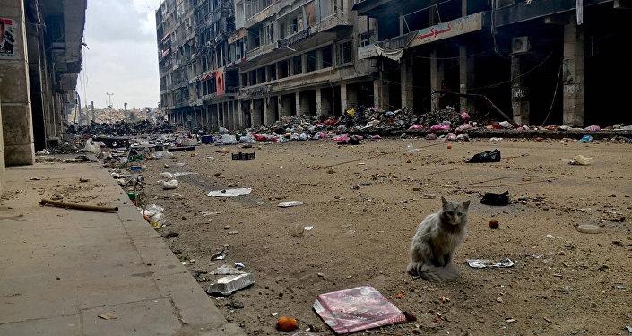 Syrské město Aleppo