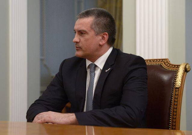 Hlava Krymu Sergej Aksjonov