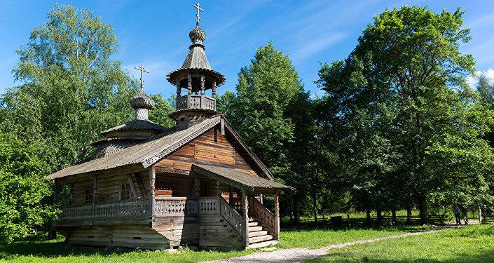 Skanzen Vitoslavlici, kaplička z 18. století