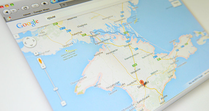 Krym na mapě Google Maps