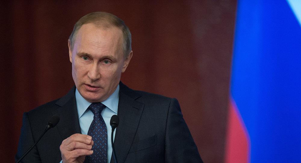 Президент РФ В. Путин принял участие во всероссийском совещании председателей судов
