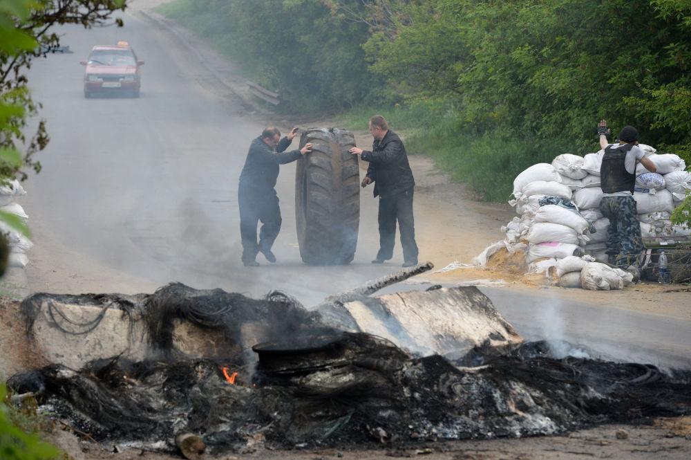Domobranci se připravují na útok ve Slavjansku