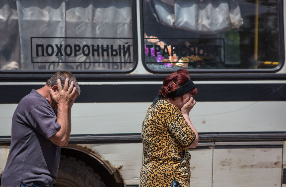 Pohřeb ve Slavjansku