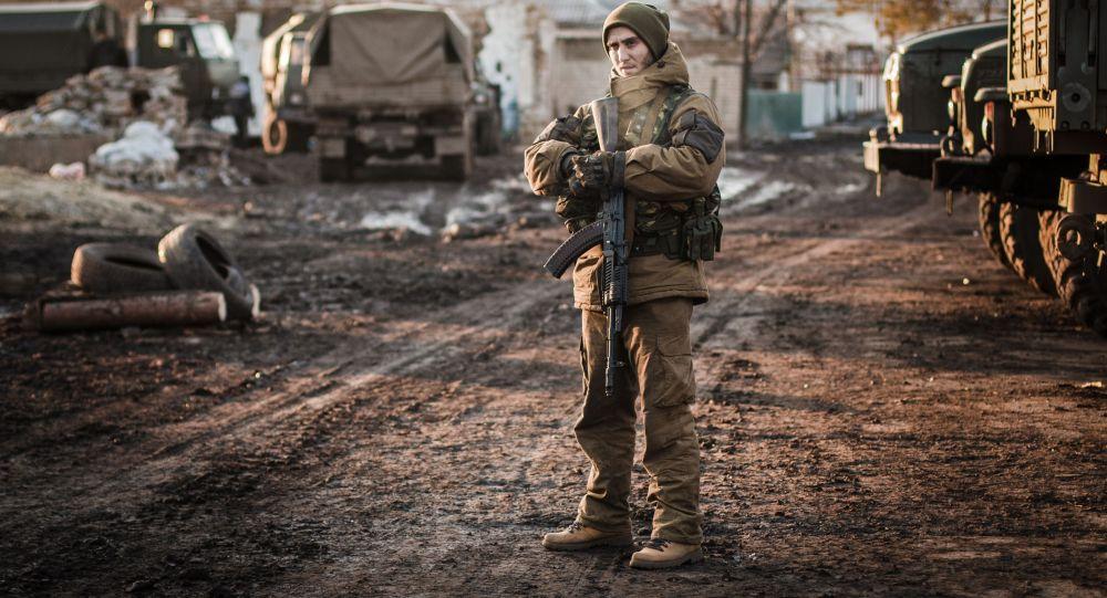 Příslušník domobrany DLR v okolí Děbalceva