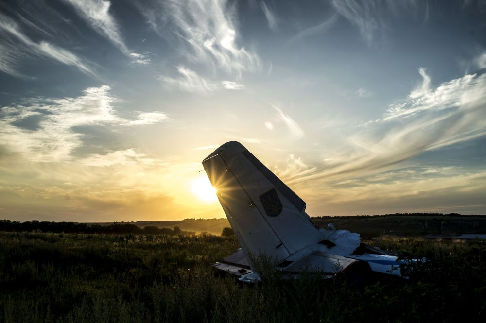 Trosky ukrajinského letadla
