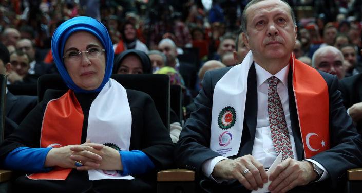 Manželský pár Erdoganových