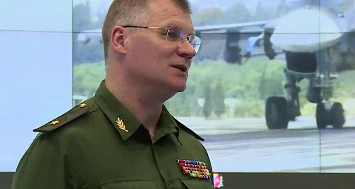Oficiální zástupce ruského ministerstva obrany Igor Konašenkov