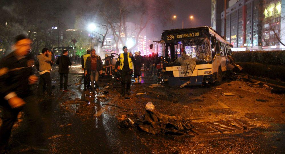 Místo výbuchu v Ankaře