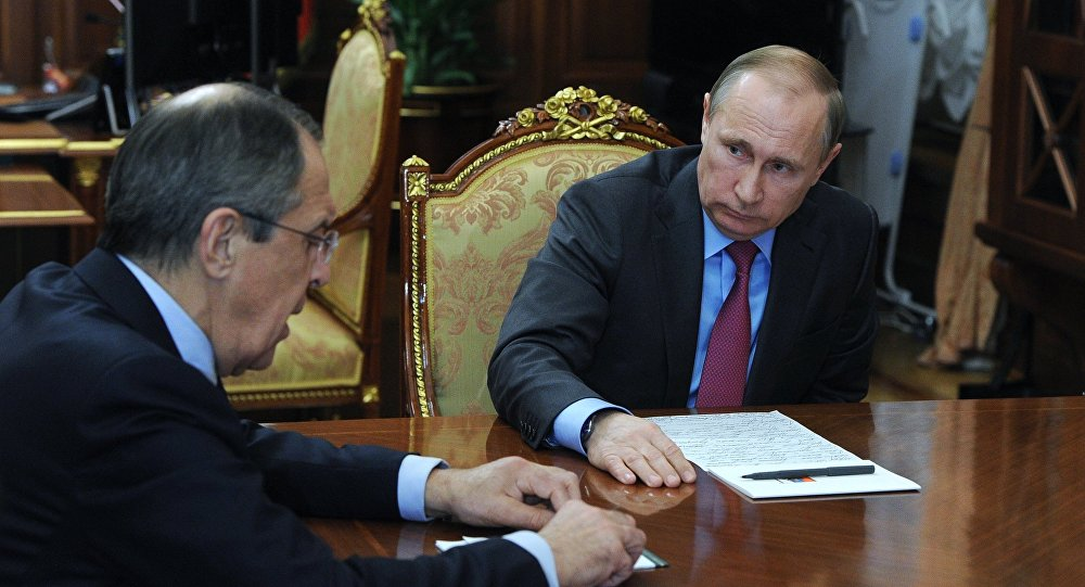Setkání Vladimira Putina a Sergeje Lavrova v Kremlu, 14. března 2016