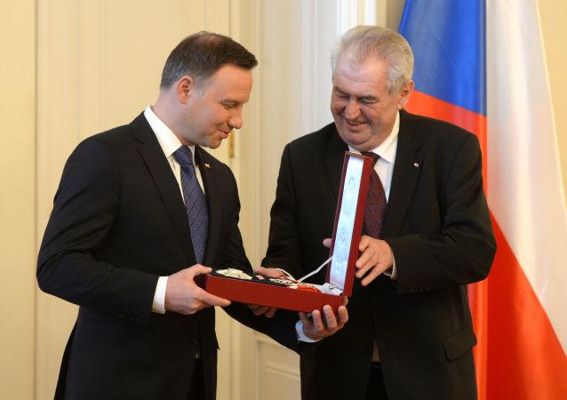 Andrej Duda a Miloš Zeman