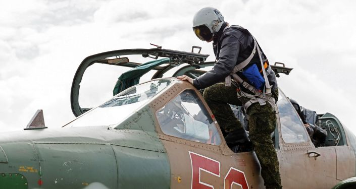Ruský letec na základně Hmeimim
