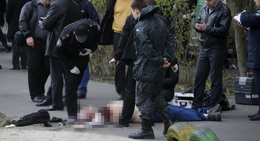 Police na místě vraždy Olesa Businy