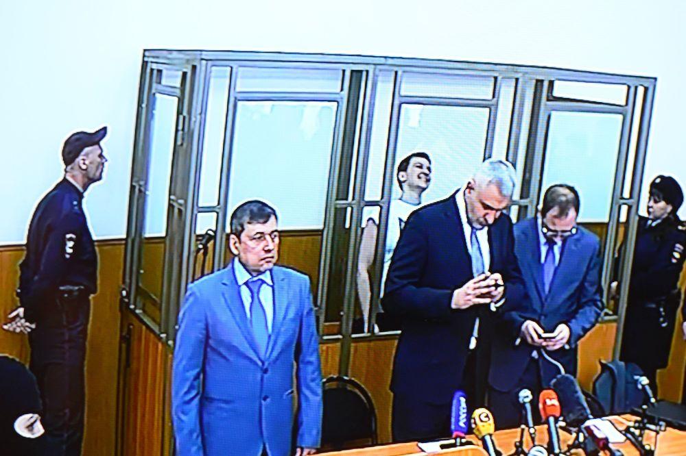 Naděžda Savčenková během vyhlášení rozsudku