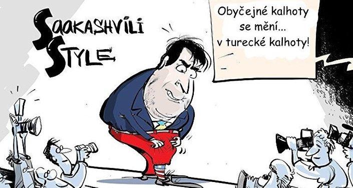 Módní přehlídka Saakašviliho