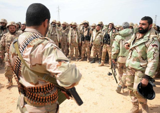 Oddíl syrské domobrany Sokolové pouště v Palmýře