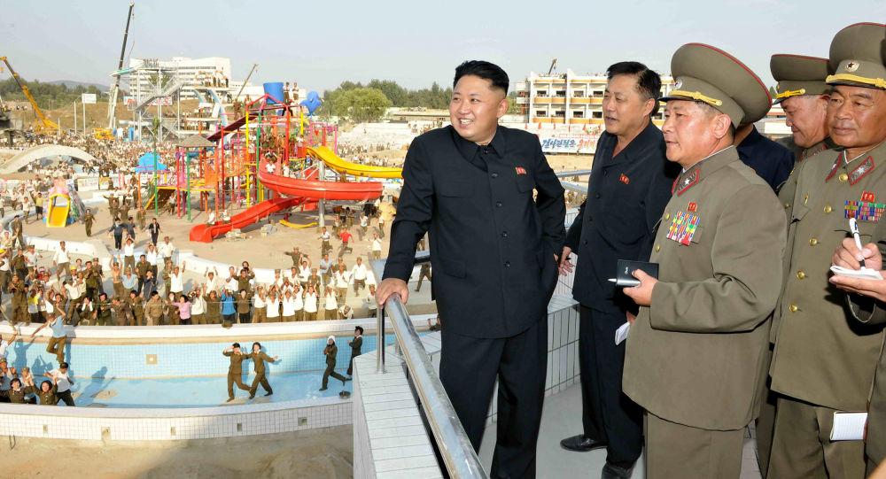 Vůdce Severní Koreje Kim Čong-un.