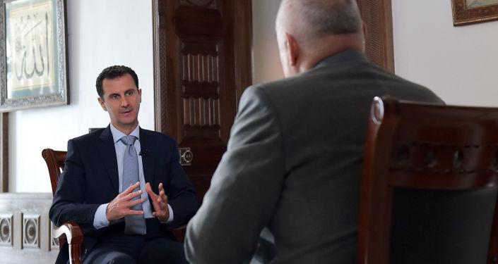 Bašár Asad během interview