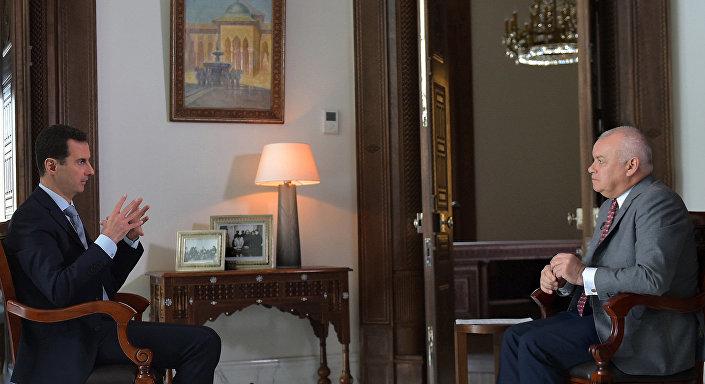 Syrský prezident Bašár Asad během rozhovoru