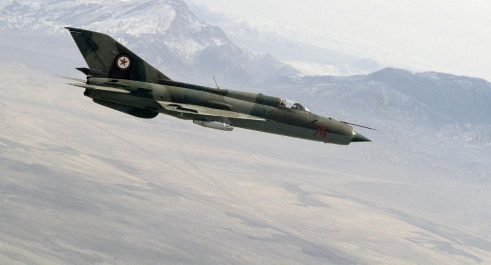Afghánská stíhačka sovětské výroby MiG-21