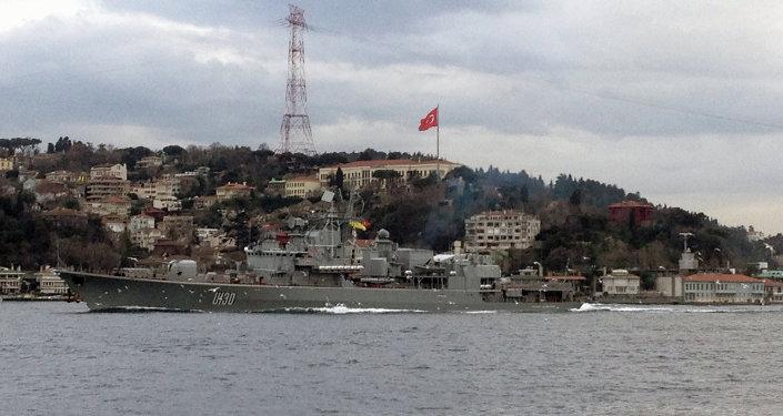 Loď ukrajinského námořnictva Getman Sagajdačnyj. Ilustrační foto