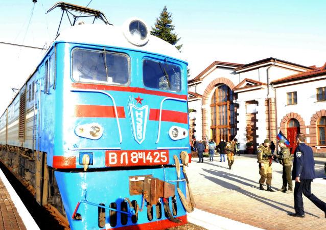 Osobní vlak na trase Jasinovataja-Kvašino-Uspenskaja