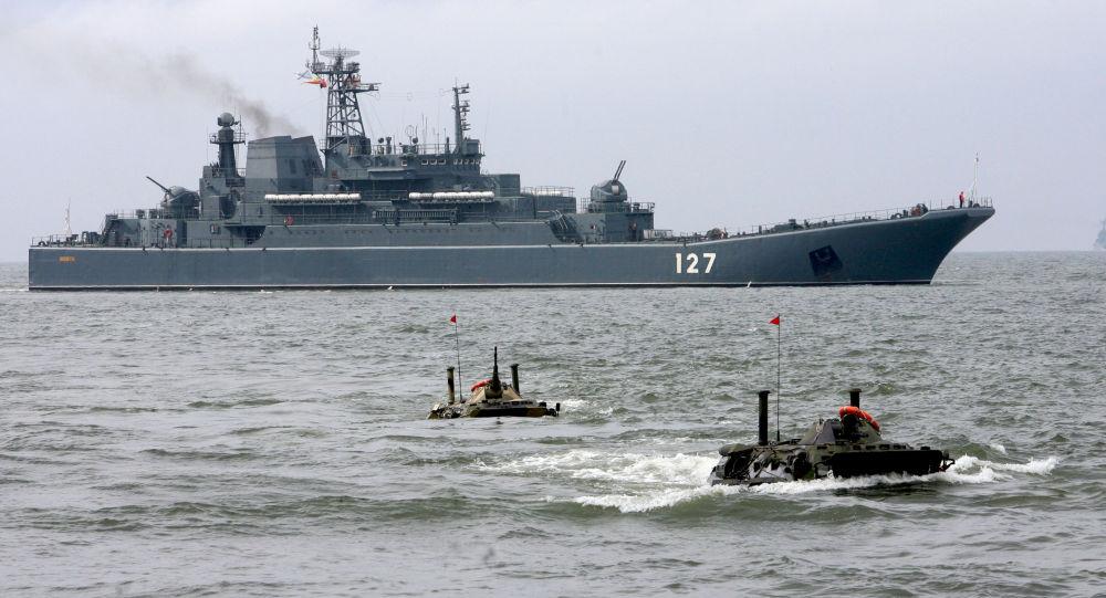 Velká výsadková loď Baltské flotily Minsk