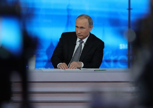 Přímá linka s Vladimirem Putinem. Archivní foto