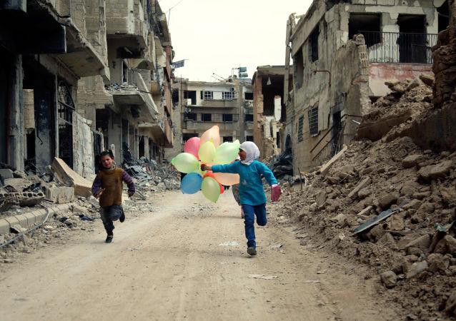 Ulice v Damašku. Ilustrační foto