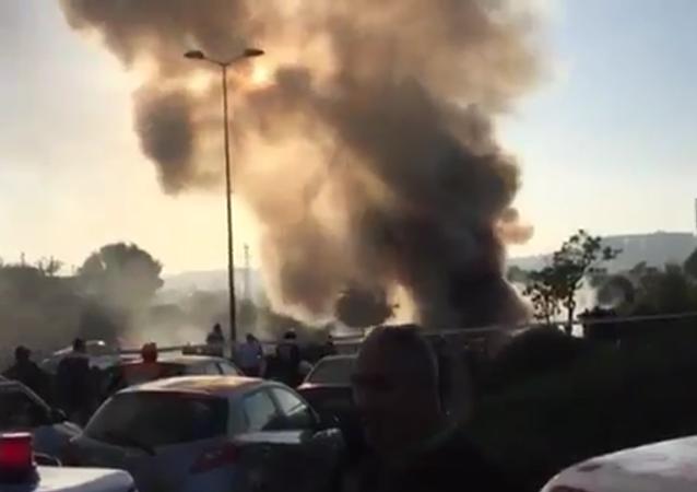 Exploze v autobusu v Jeruzalému
