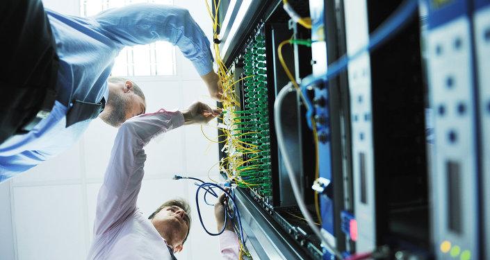 Inženýři v serverovně