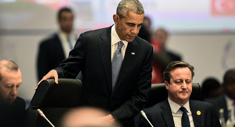 Barack Obama a David Cameron