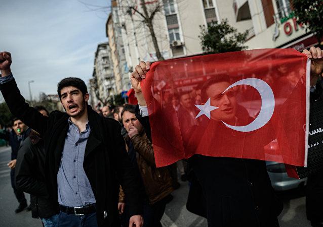 Protestní akce v Istanbulu