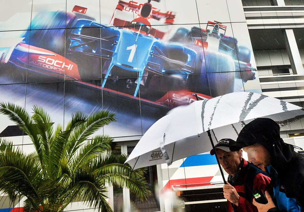 Přípravy na závody Formule 1 v Soči