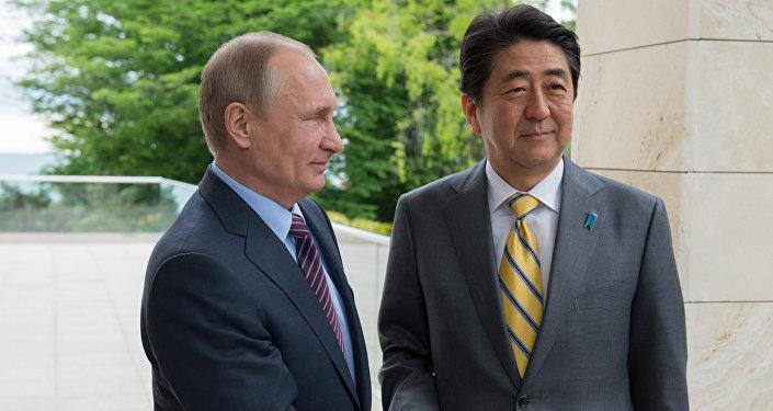 Schůzka ruského prezidenta Vladimira Putina s japonským premiérem Šinzó Abem