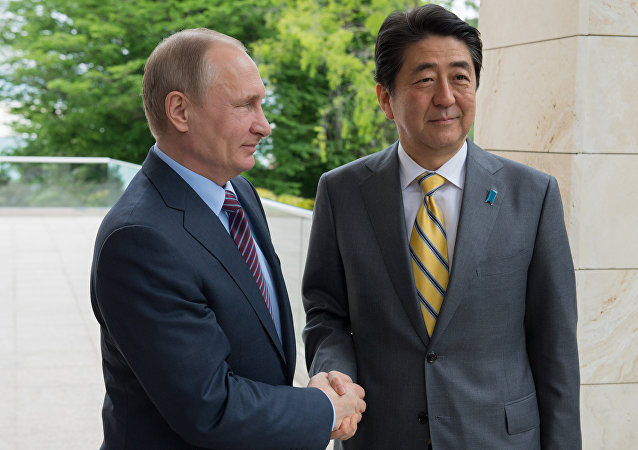 Schůzka ruského prezidenta Vladimira Putina s japonským premiérem Šinzó Abem v Soči, 6. května 2016