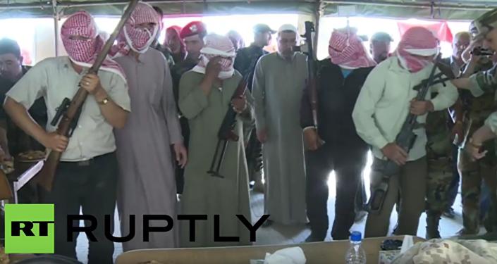 Příměří v Sýrii: jak teroristé složili zbraně v osadě Samra. VIDEO