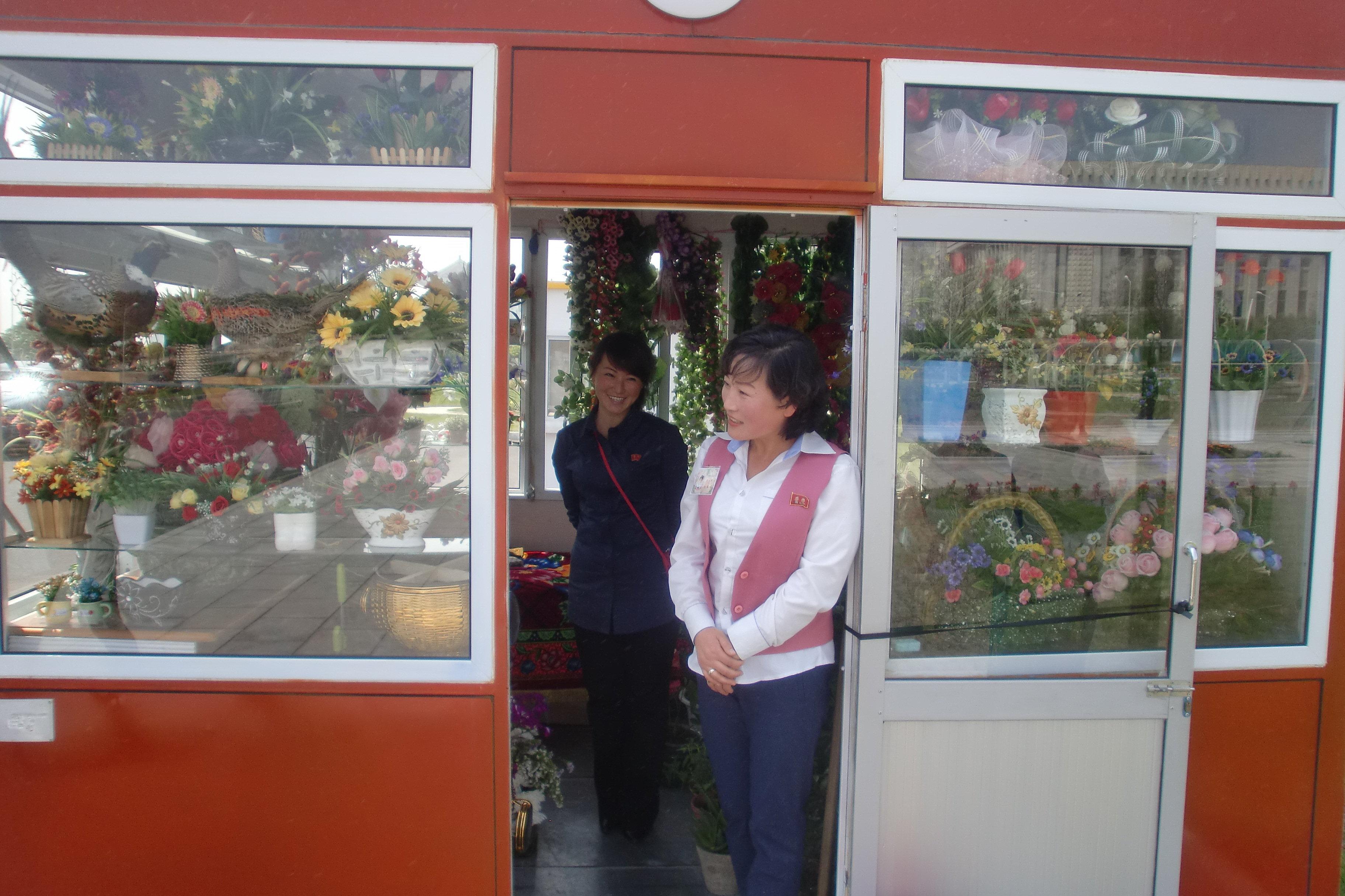 Květinářství v Pchjongjangu