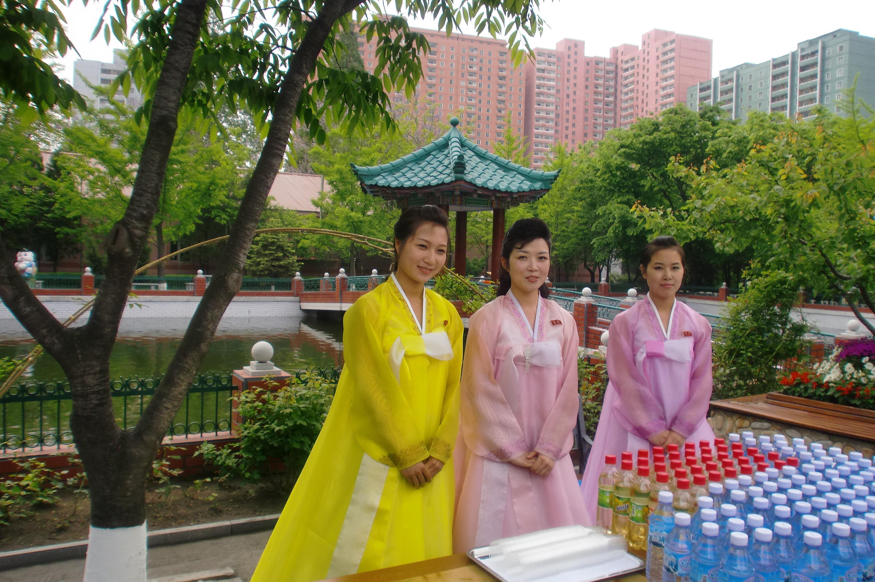 Území hedvábné továrny v Pchjongjangu