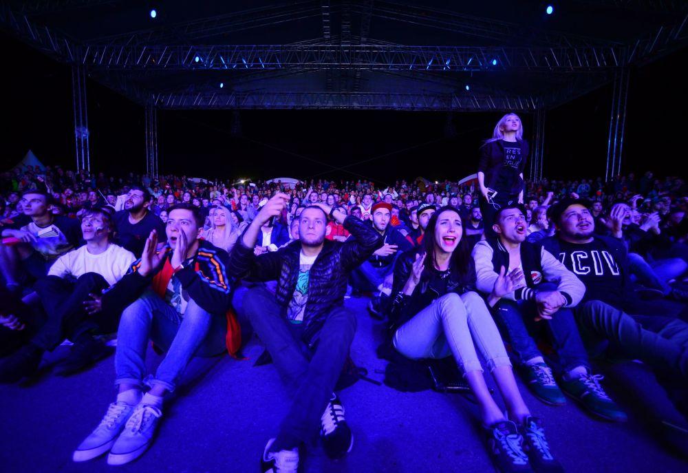 Fanoušci během hokejového mistrovství světa v Rusku