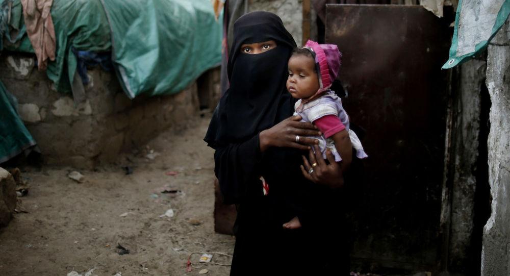 Mladá uprchlice z Jemenského Taisu