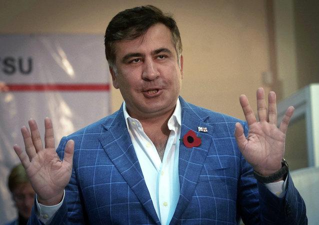 Bývalý gruzínský prezident, bývalý gubernátor Oděsské oblasti Michali Saakašvili
