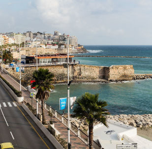 Pohled na přístav španělské poloviční enklávy Ceuta