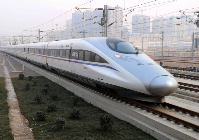 Čínský vysokorychlostní vlak. Archivní foto