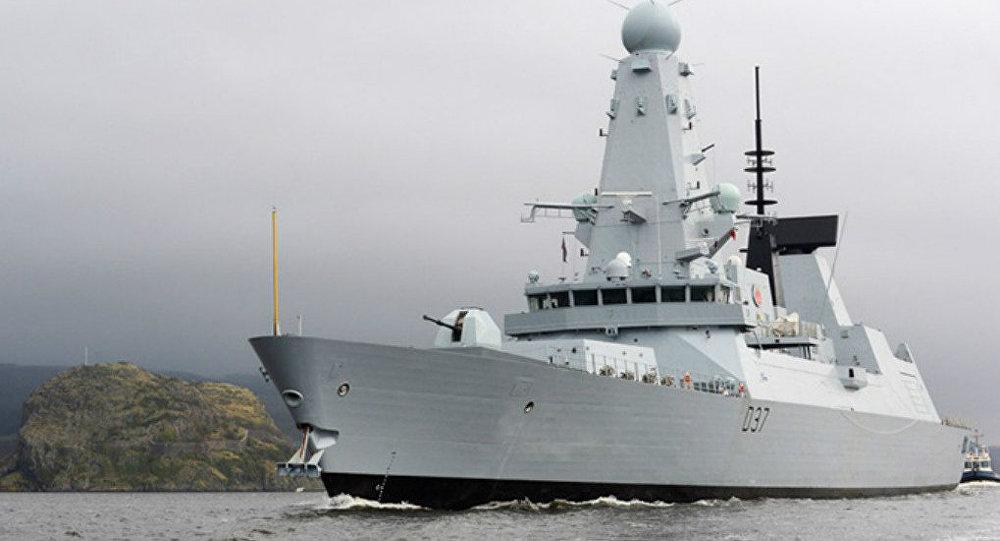 Přední britský torpédoborec Duncan