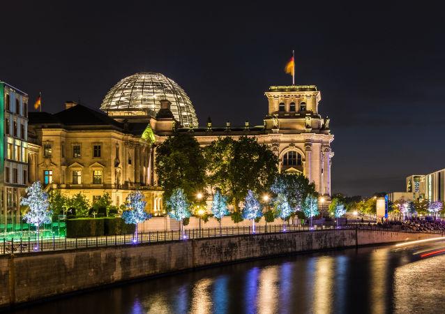 Pohled na Reichstag v Berlínu