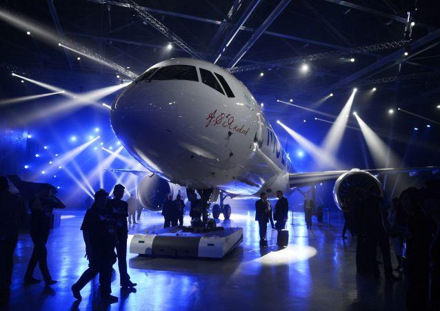 Prezentace nového dopravního letadla MS-21-300 v Irkutsku